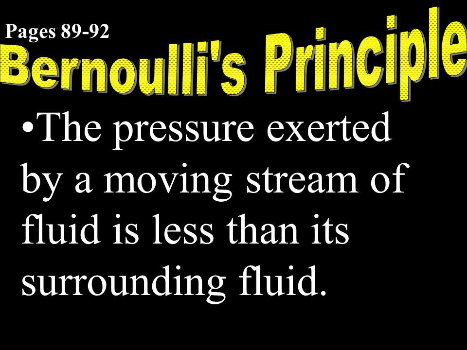 Bernoulli s Principle Pages 89-92.