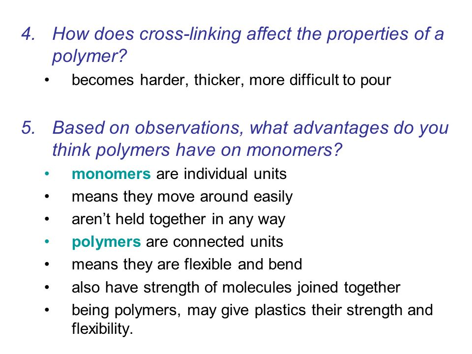 How does cross-linking affect the properties of a polymer