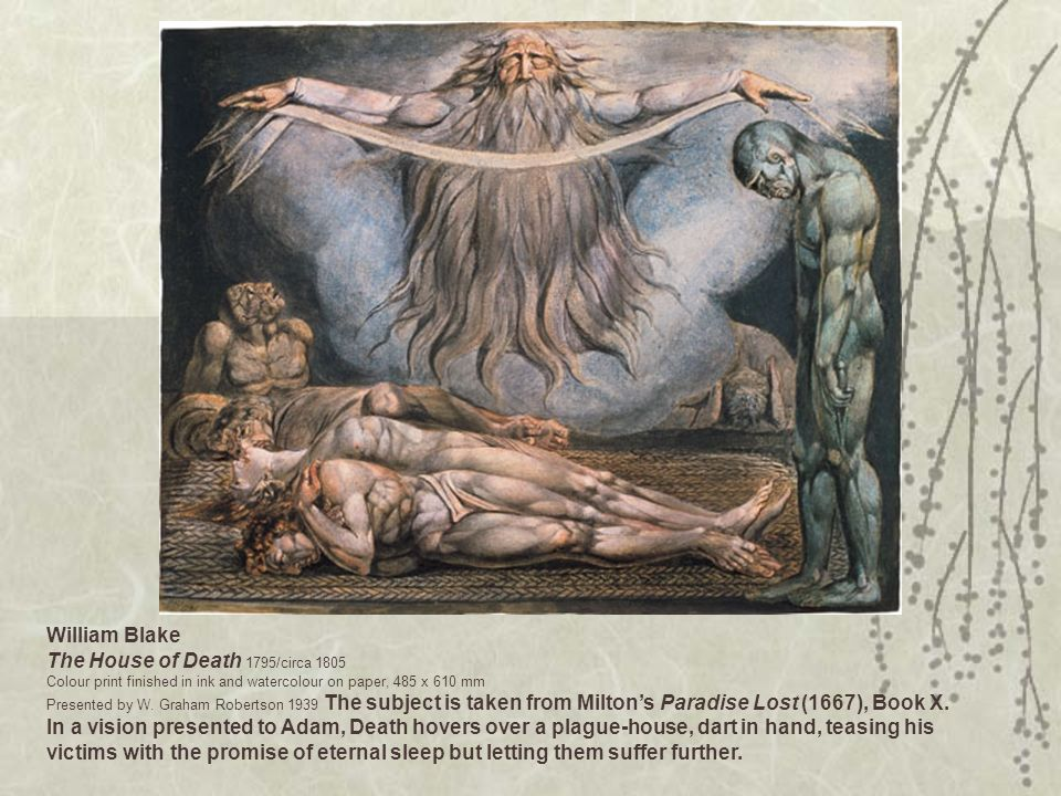 William Blake The House of Death 1795/circa 1805 Colour print finished in ink and watercolour on paper, 485 x 610 mm Presented by W.
