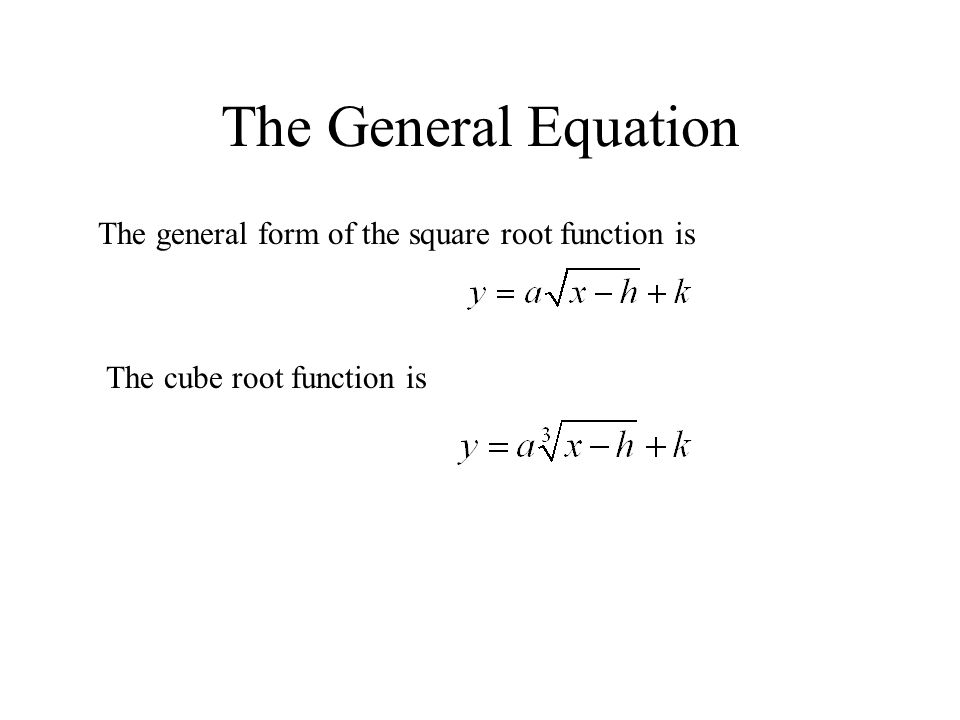 Cube Root Function Equation