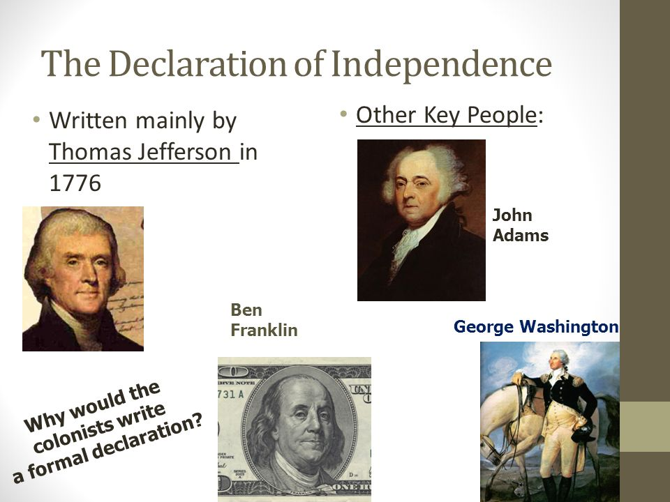 thomas jeffersons take on the declaration of independence
