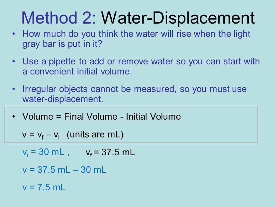 Method 2: Water-Displacement