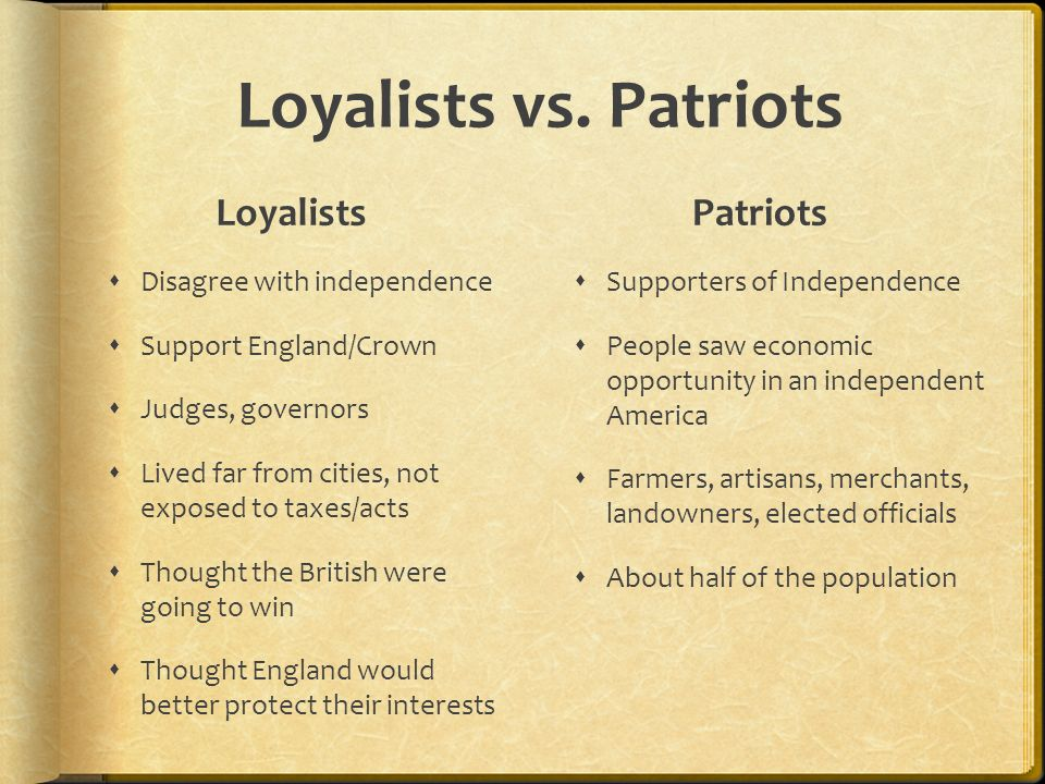 Fighting Of The American Revolution Ppt Video Online Download - Map of loyalists leaving us