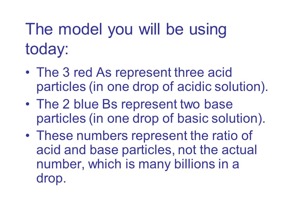 The model you will be using today: