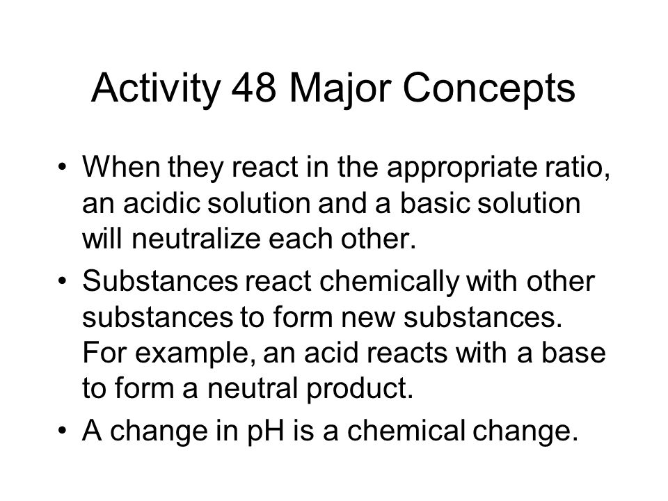 Activity 48 Major Concepts