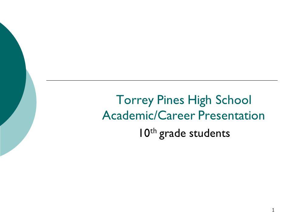 Torrey Pines High School Academic/Career Presentation