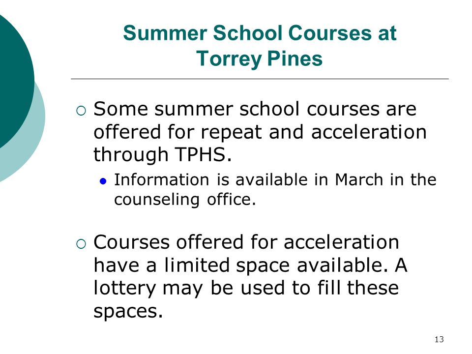 Summer School Courses at Torrey Pines