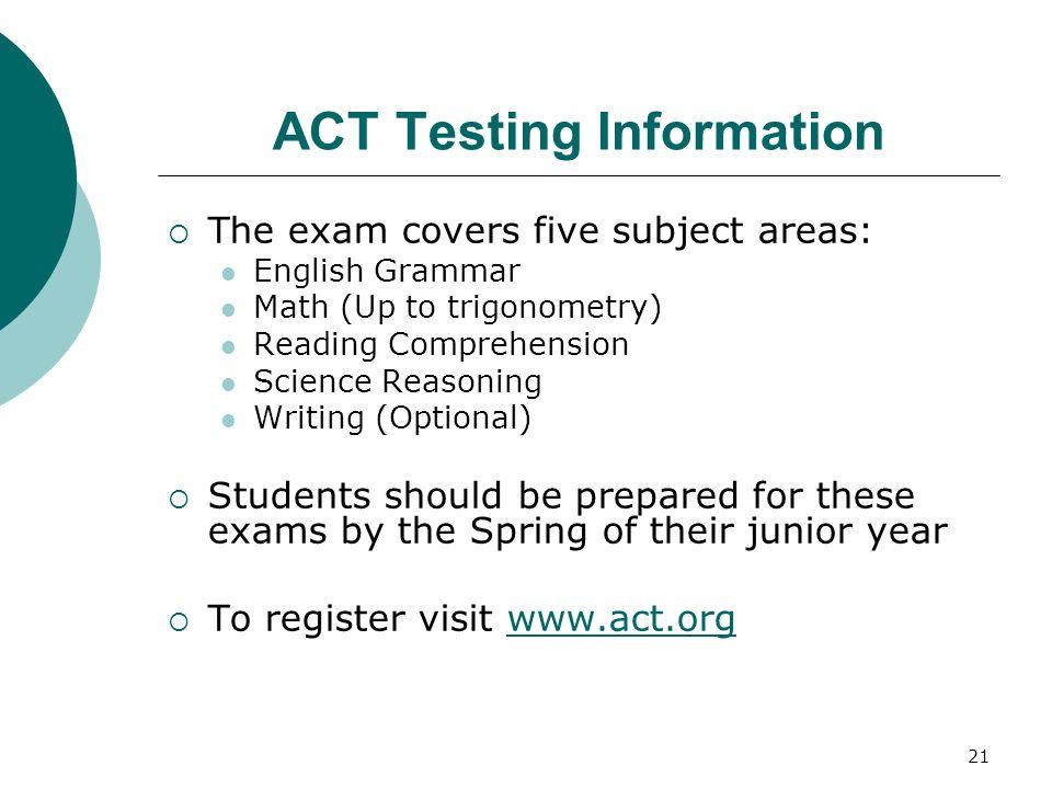 ACT Testing Information