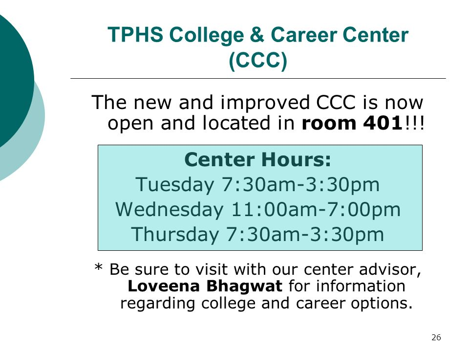 TPHS College & Career Center (CCC)