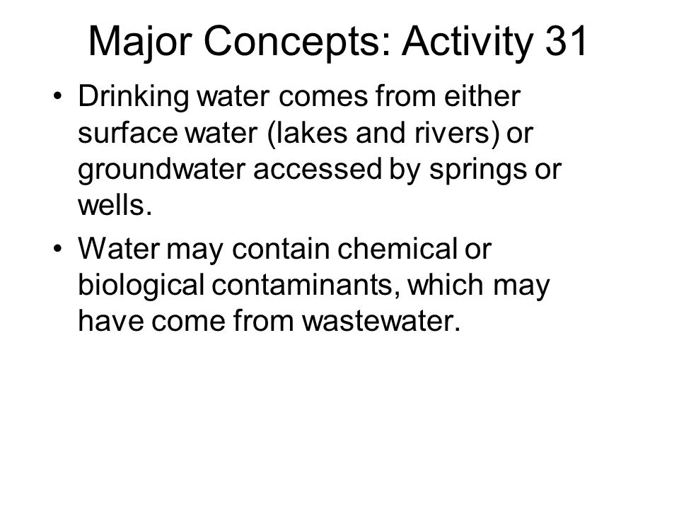 Major Concepts: Activity 31