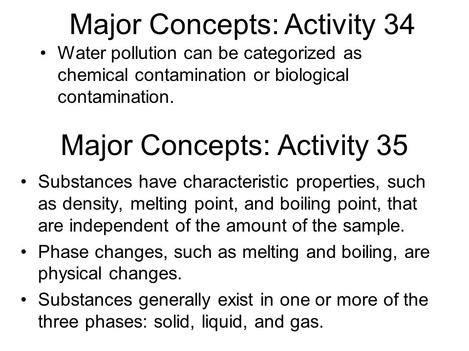 Major Concepts: Activity 35