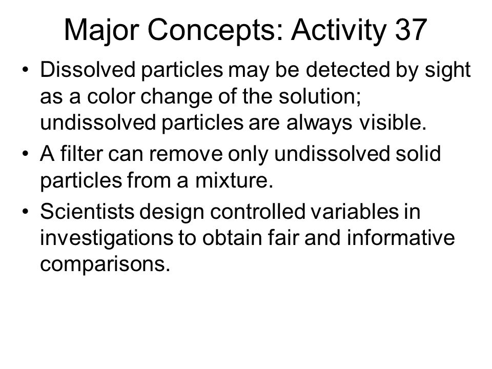 Major Concepts: Activity 37