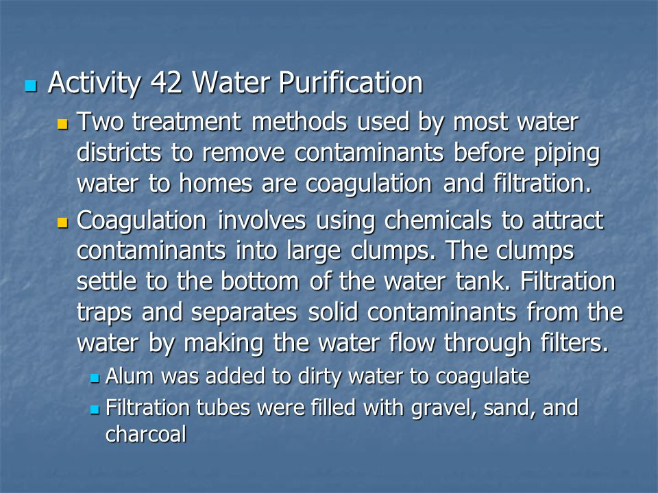 Activity 42 Water Purification