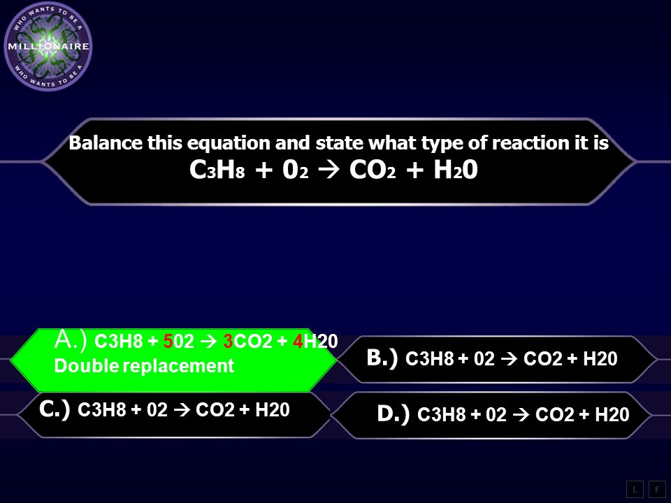 Balance this equation and state what type of reaction it is