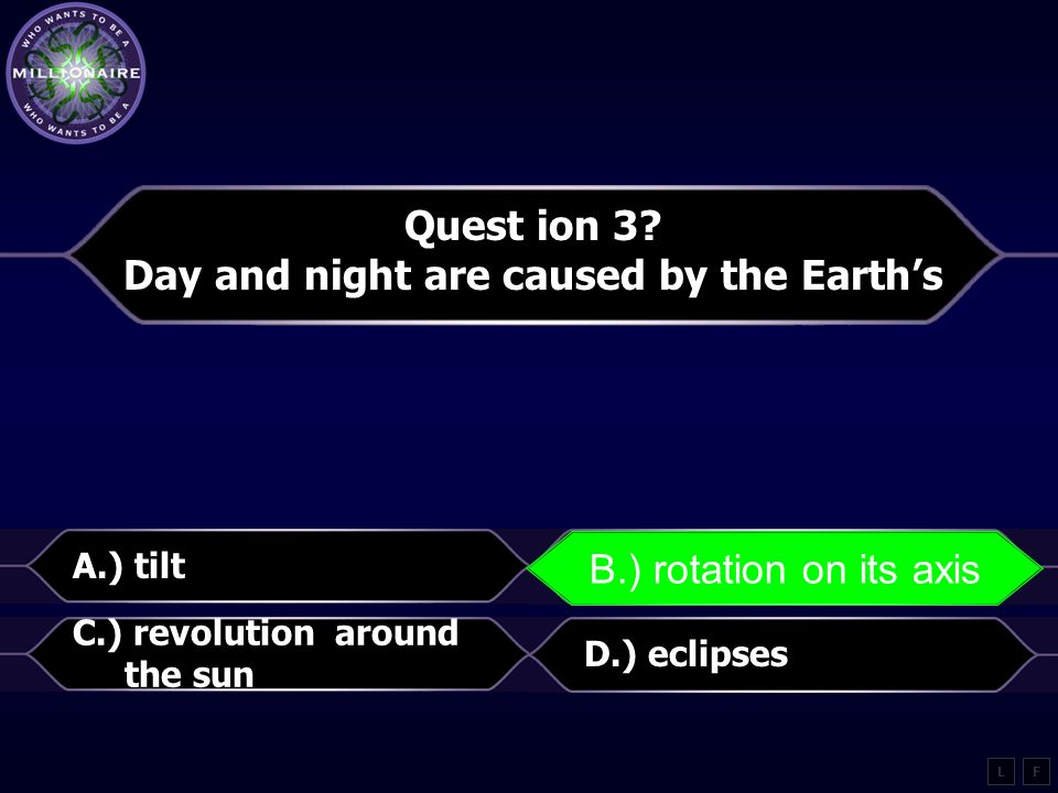 Day and night are caused by the Earth's