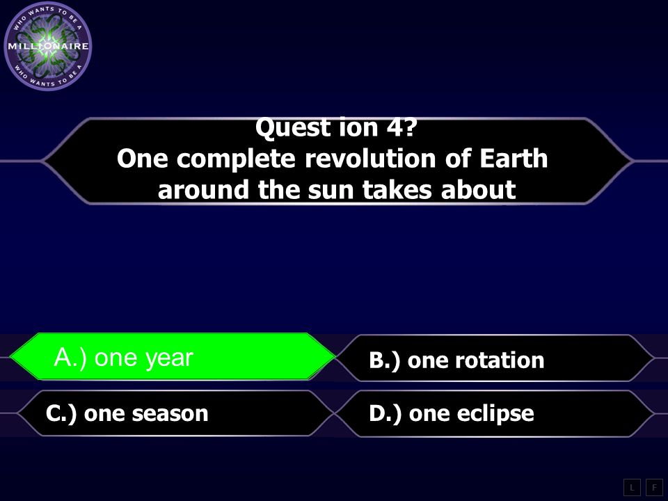 One complete revolution of Earth around the sun takes about