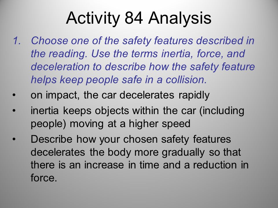 Activity 84 Analysis