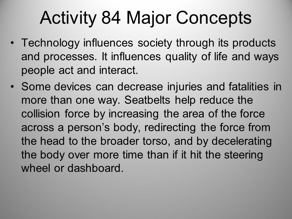 Activity 84 Major Concepts
