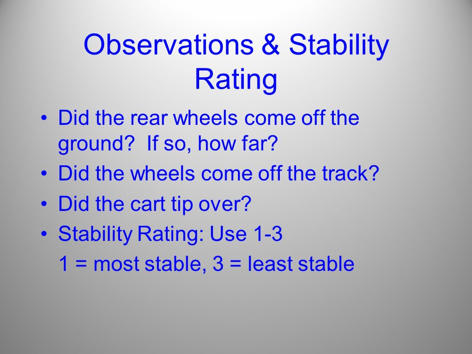 Observations & Stability Rating