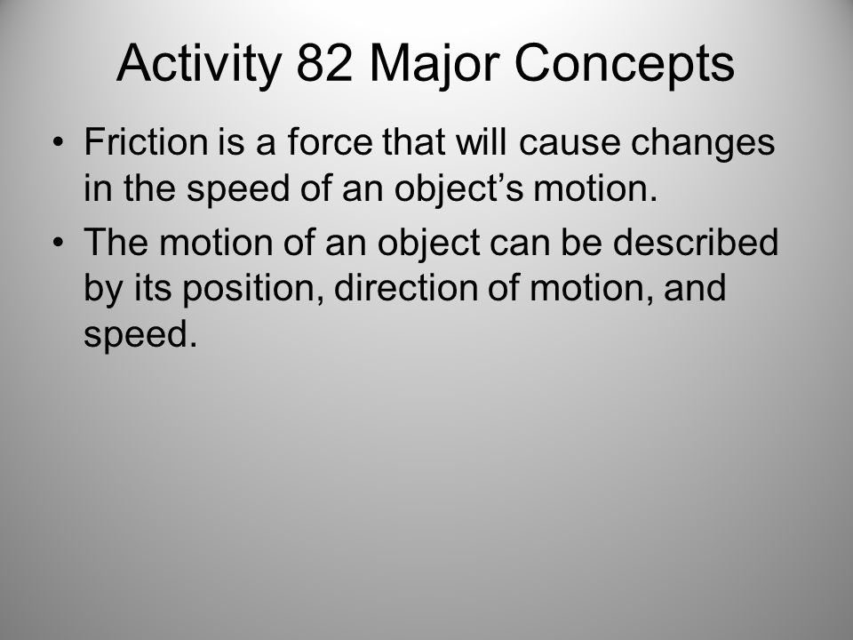Activity 82 Major Concepts