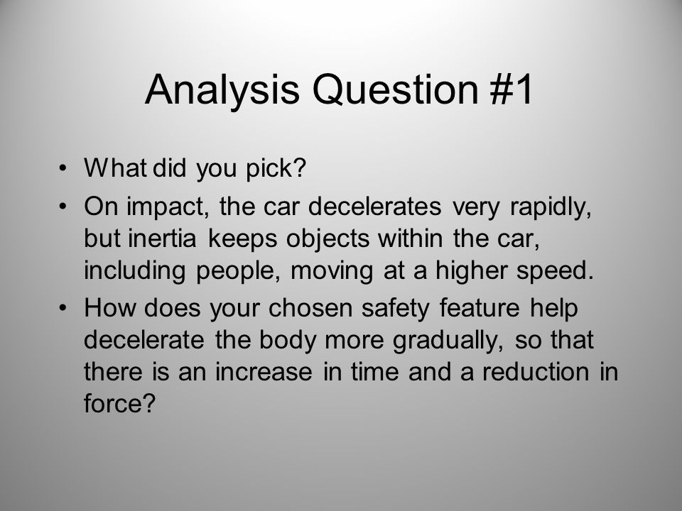 Analysis Question #1 What did you pick