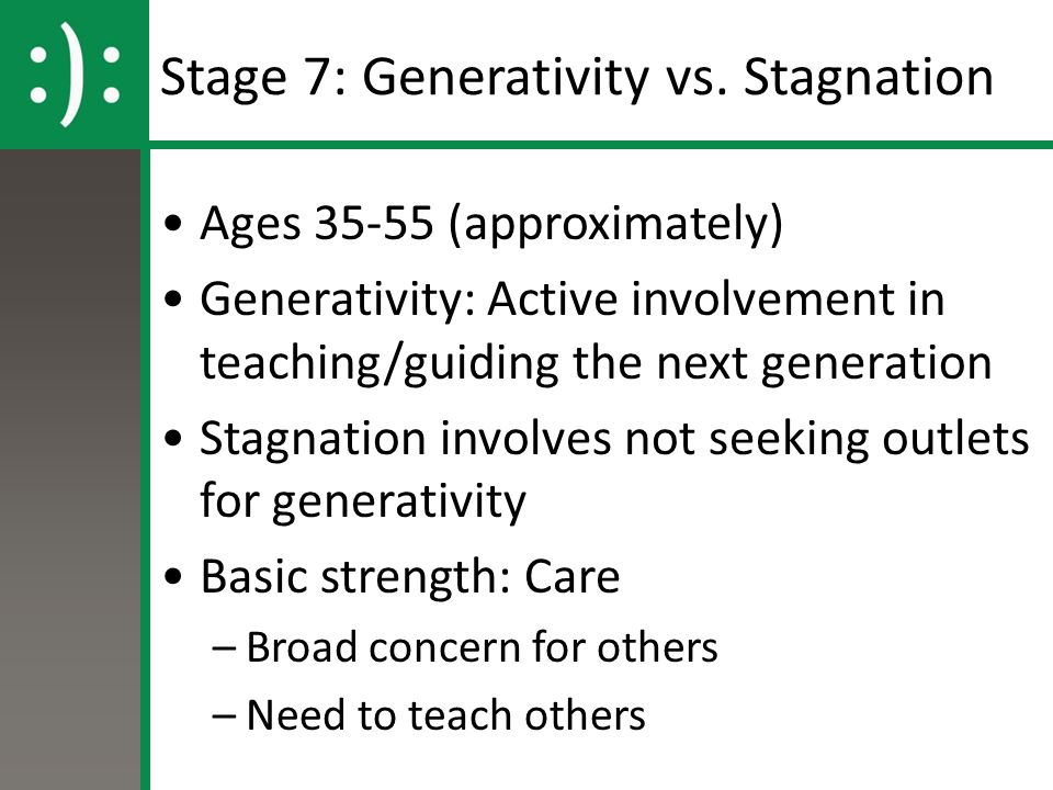 how to solve eriksons generativity vs stagnation stage