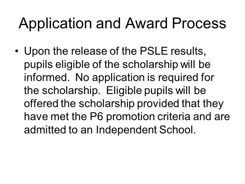 Application and Award Process