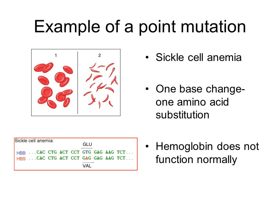 Example of a point mutation