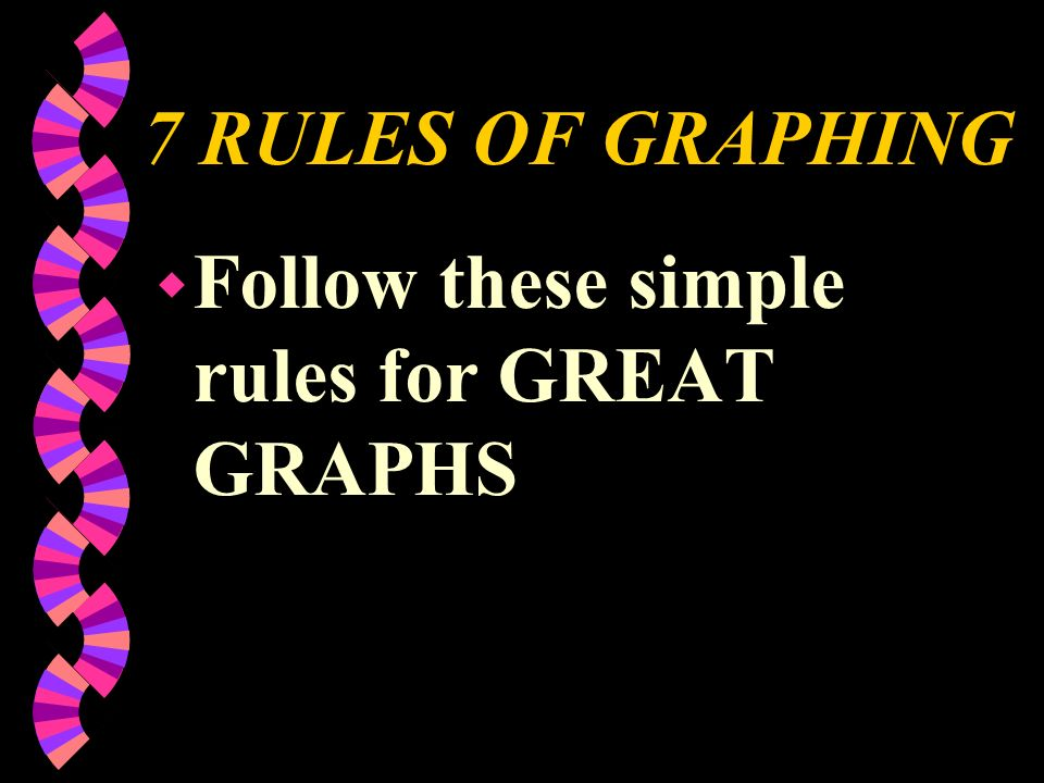 7 RULES OF GRAPHING Follow these simple rules for GREAT GRAPHS