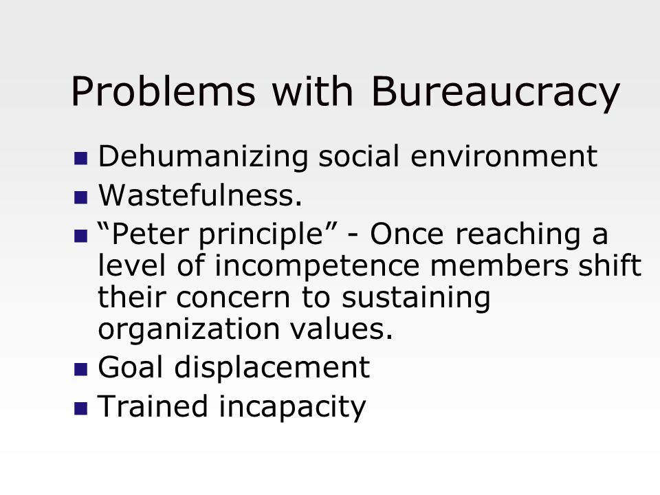 Problems with Bureaucracy