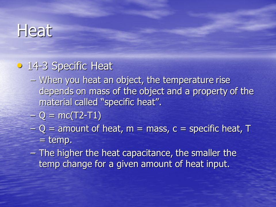 Heat 14-3 Specific Heat.