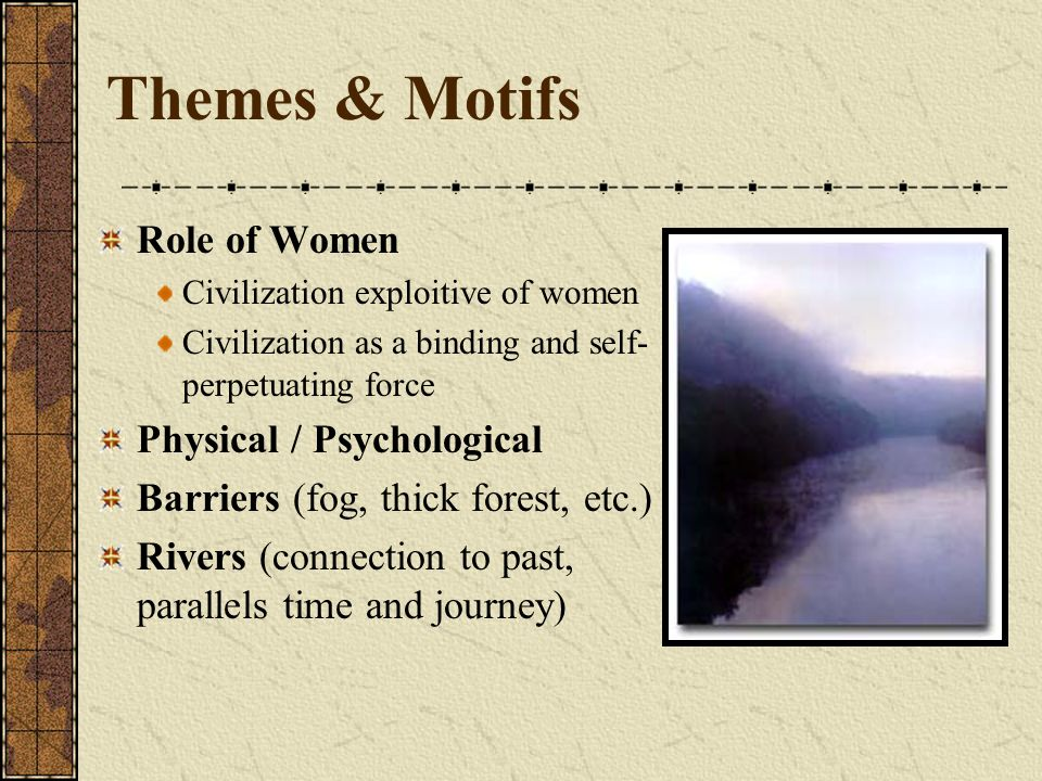 Themes & Motifs Role of Women Physical / Psychological