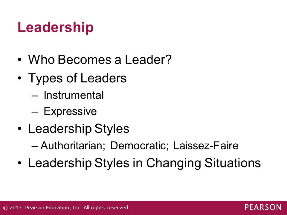 Leadership Who Becomes a Leader Types of Leaders Leadership Styles