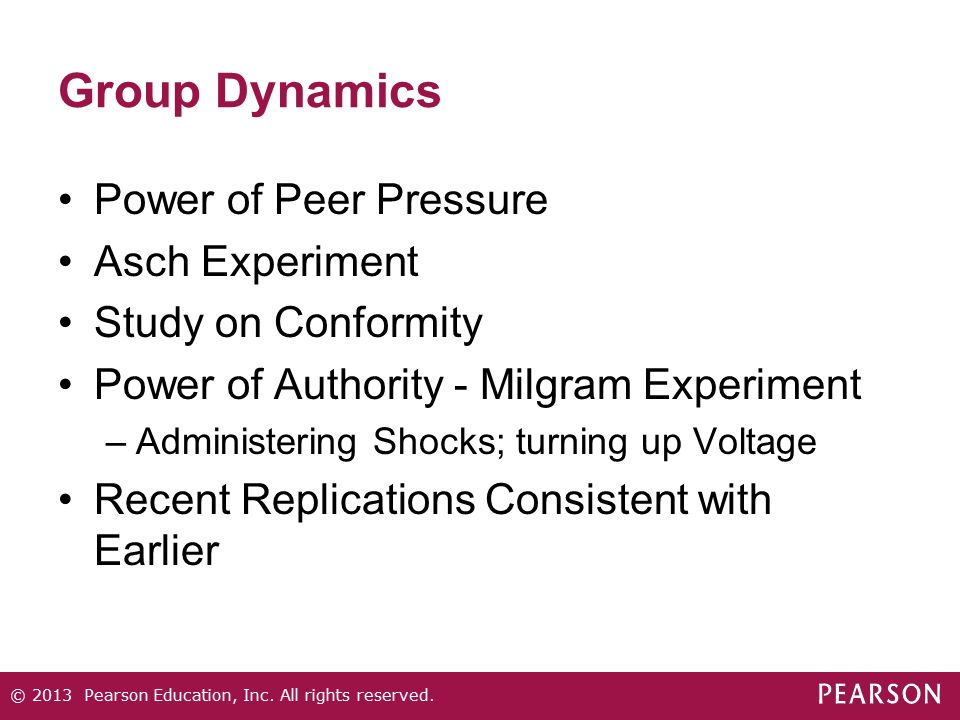 Group Dynamics Power of Peer Pressure Asch Experiment