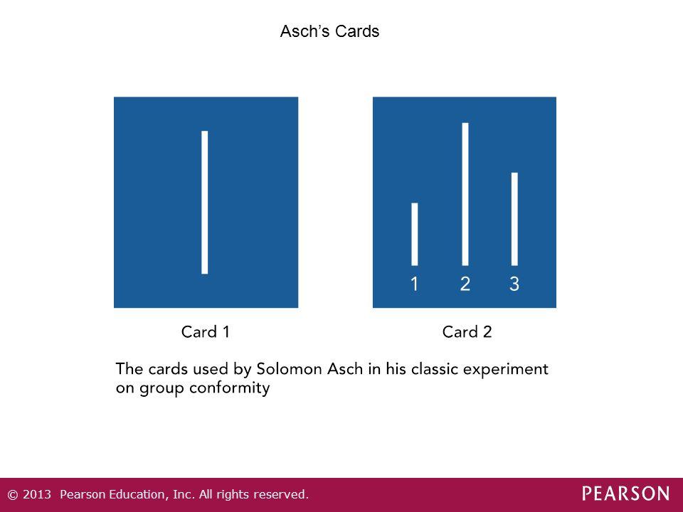 Asch's Cards Figure 5.3 Asch's Cards