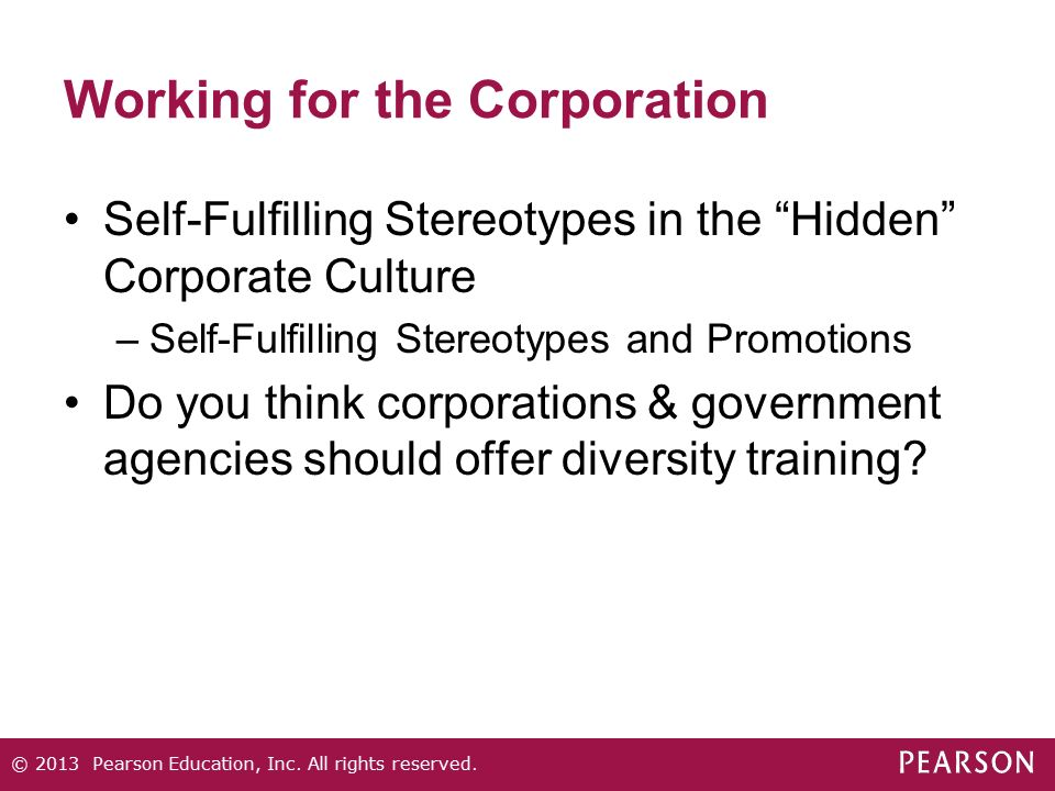 Working for the Corporation