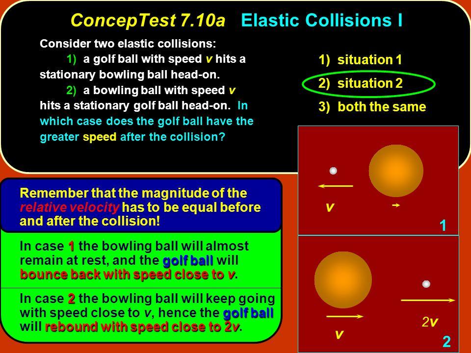 ConcepTest 7.10a Elastic Collisions I