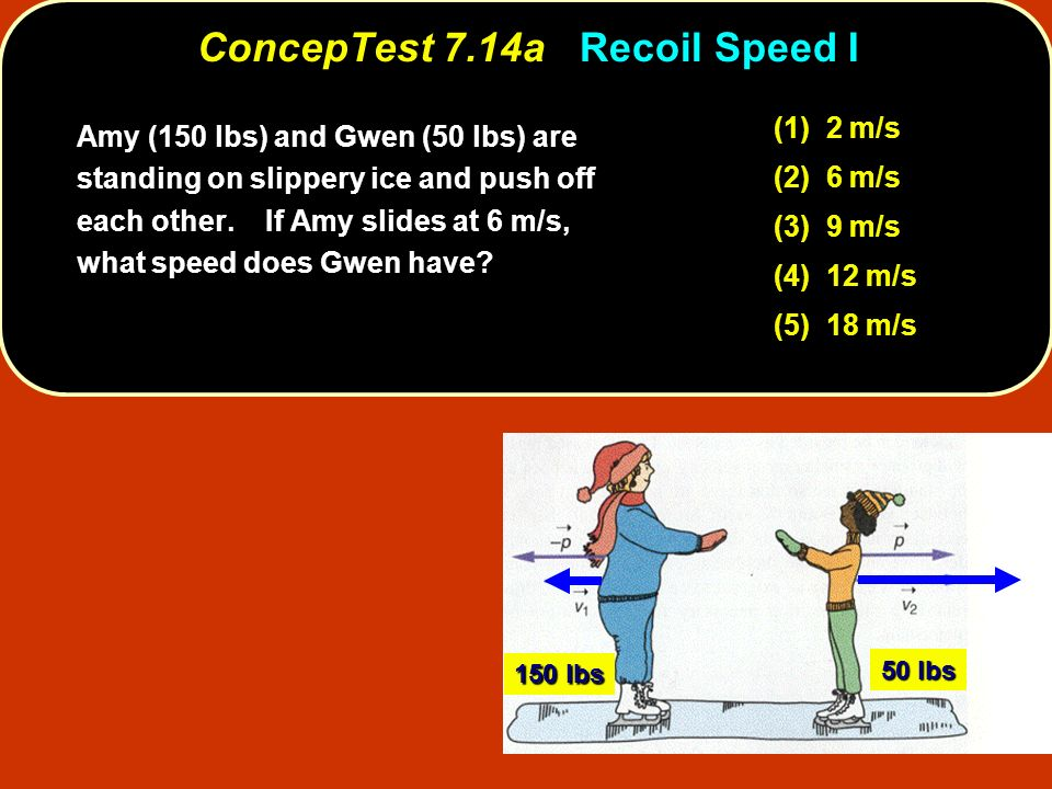 ConcepTest 7.14a Recoil Speed I