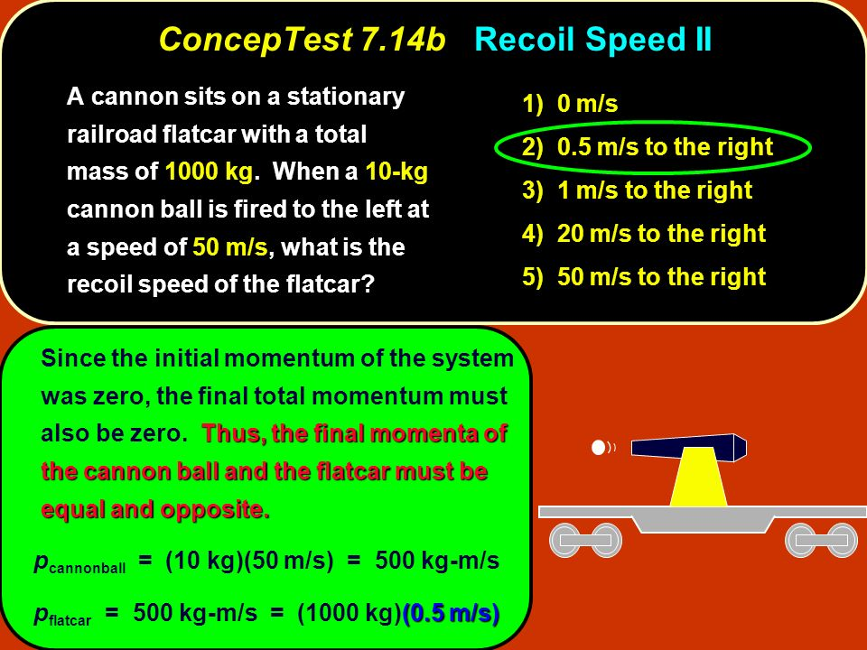 ConcepTest 7.14b Recoil Speed II