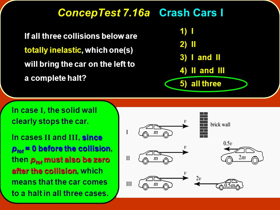 ConcepTest 7.16a Crash Cars I