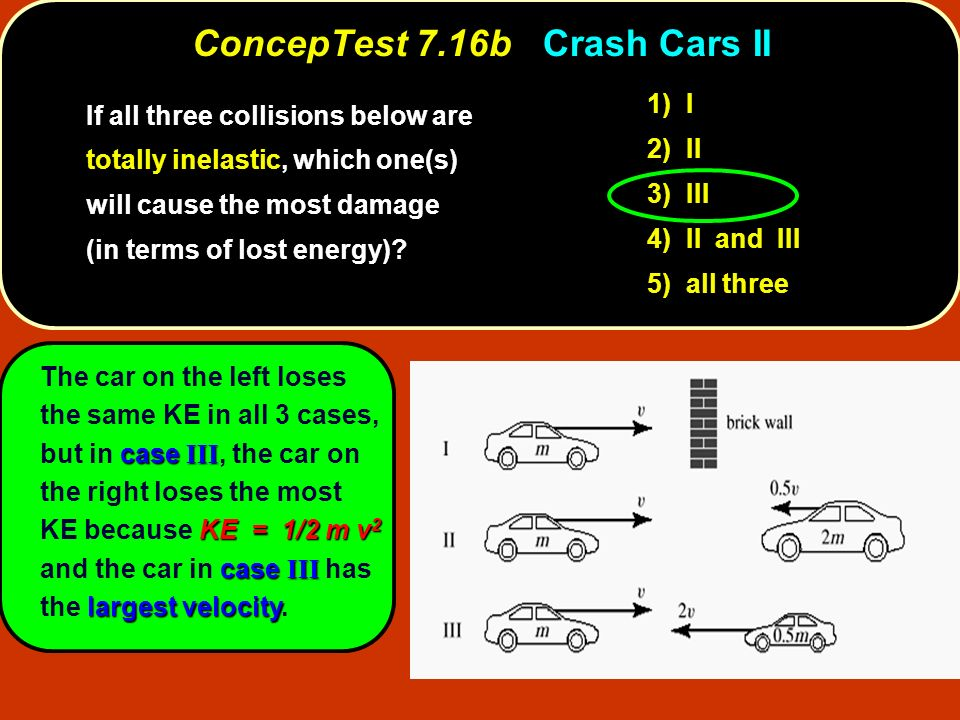 ConcepTest 7.16b Crash Cars II