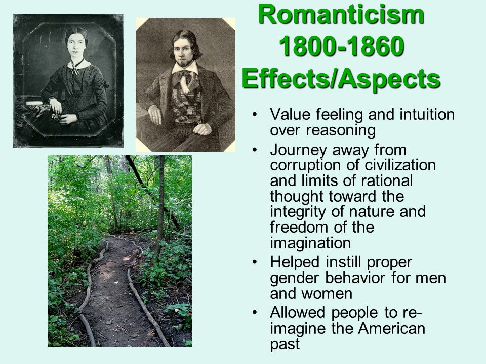 Romanticism 1800-1860 Effects/Aspects