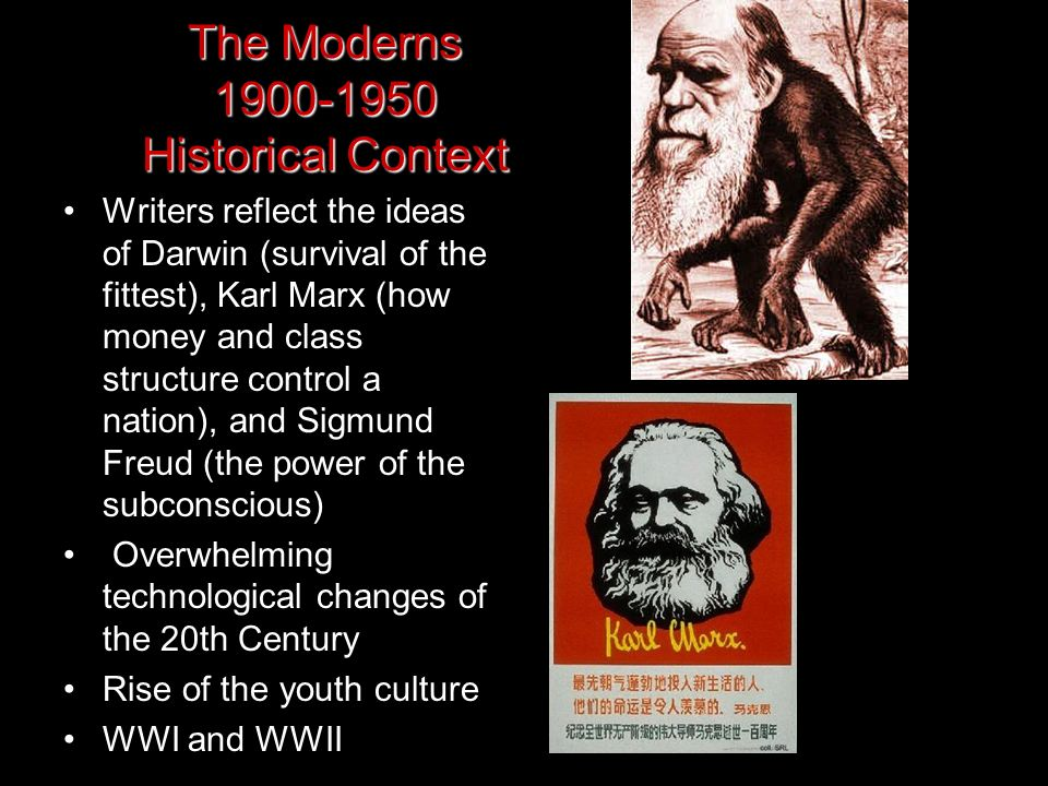 The Moderns 1900-1950 Historical Context