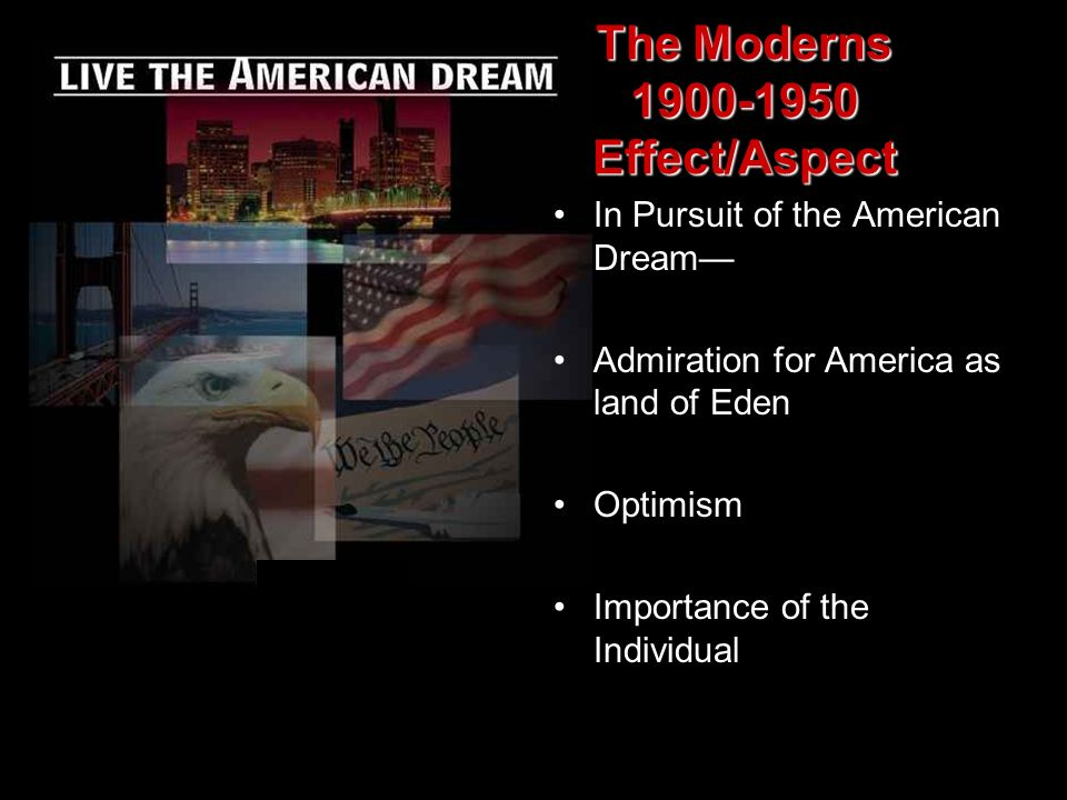 The Moderns 1900-1950 Effect/Aspect