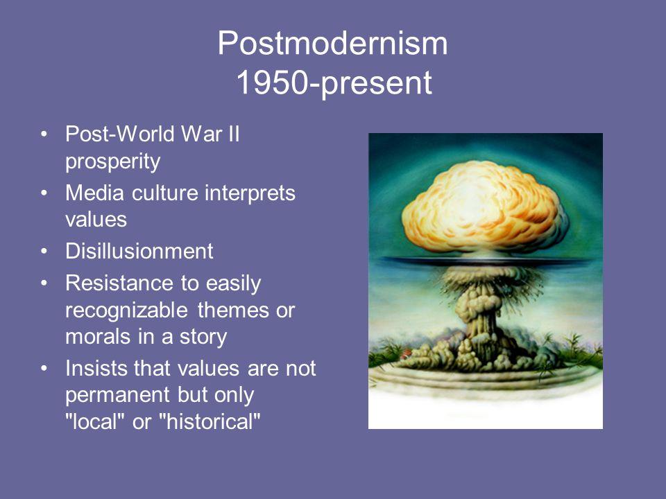 Postmodernism 1950-present