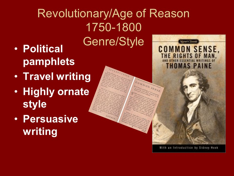 Revolutionary/Age of Reason 1750-1800 Genre/Style