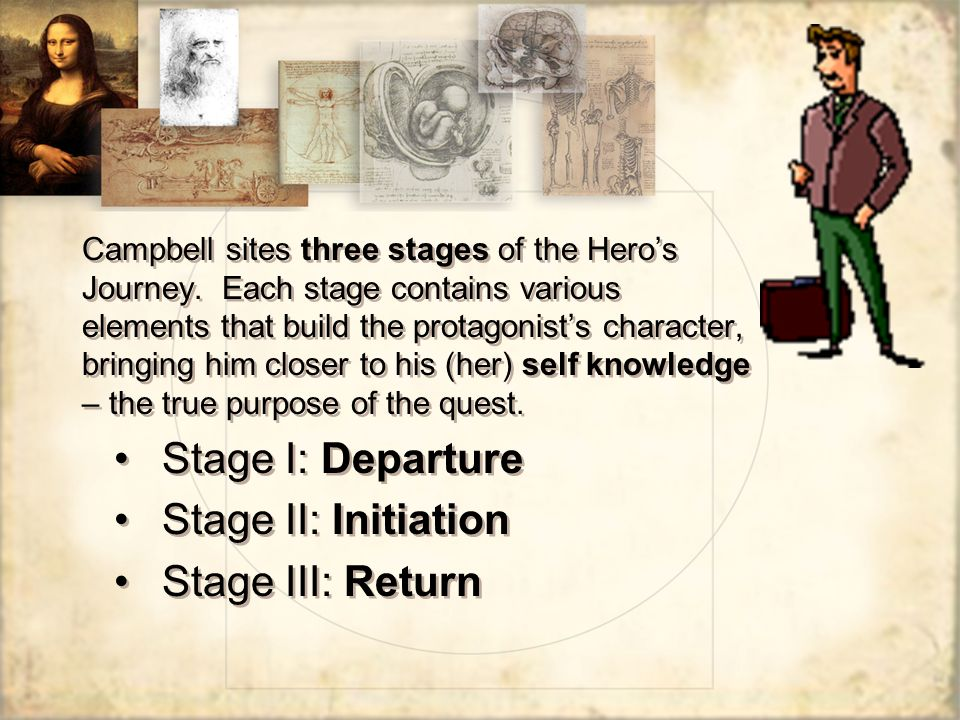 Stage I: Departure Stage II: Initiation Stage III: Return