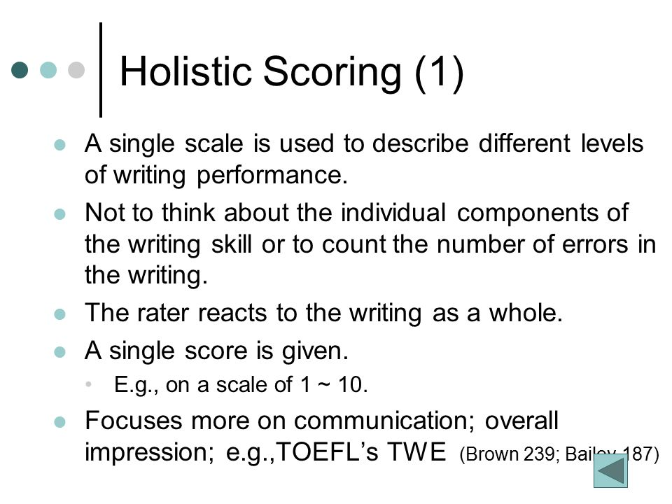 toefl essay scoring (see the following rubric charts and score conversion table) the response to the integrated writing task is scored on the quality of writing (organization, appropriate and precise use of grammar and vocabulary) and the completeness and accuracy of the content the independent writing essay is scored on the overall quality.
