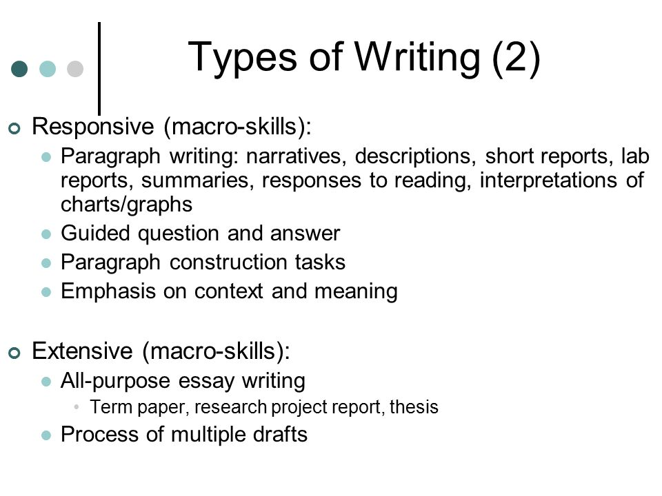 types of term papers Types of essays analysis argumentative persuasive / persuade cause and effect comparison and contrast definition narrative & descriptive division.