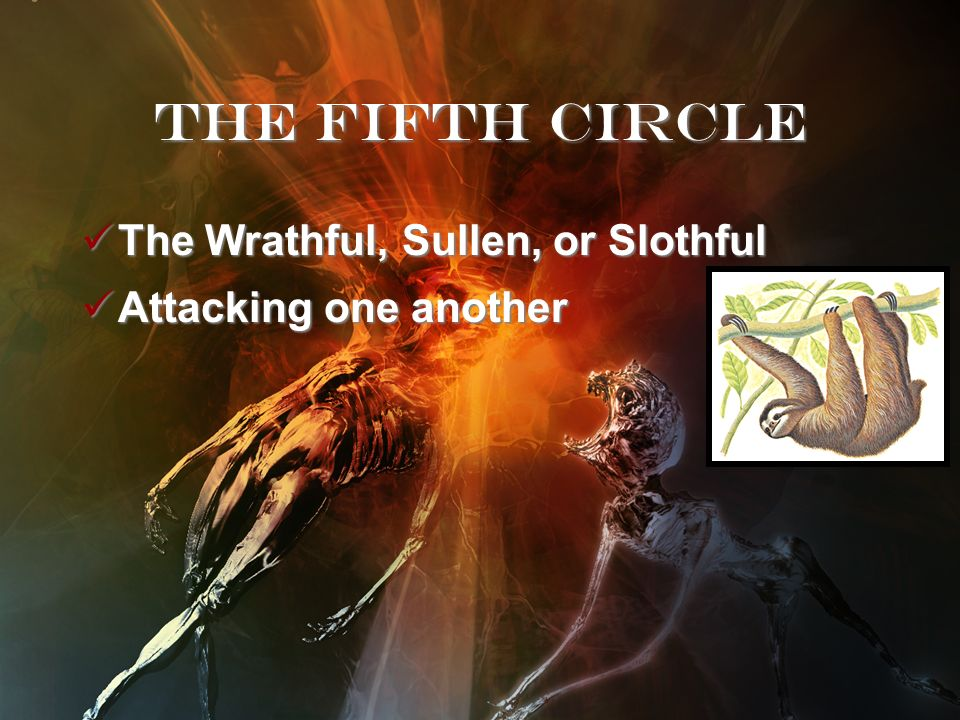The Fifth Circle The Wrathful, Sullen, or Slothful